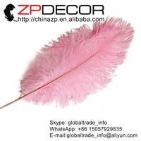 zpdecor 100 pcslot 35 40cm14 16inchhand select high quality fluffy and smooth light pink dyed ostrich plumes feather