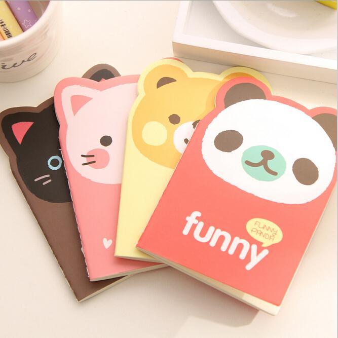 1 Uds Cute Agenda Kawaii papelería creativa de dibujos animados material de oficina escuela cuaderno animal diario Panda Bloc de notas oso gato