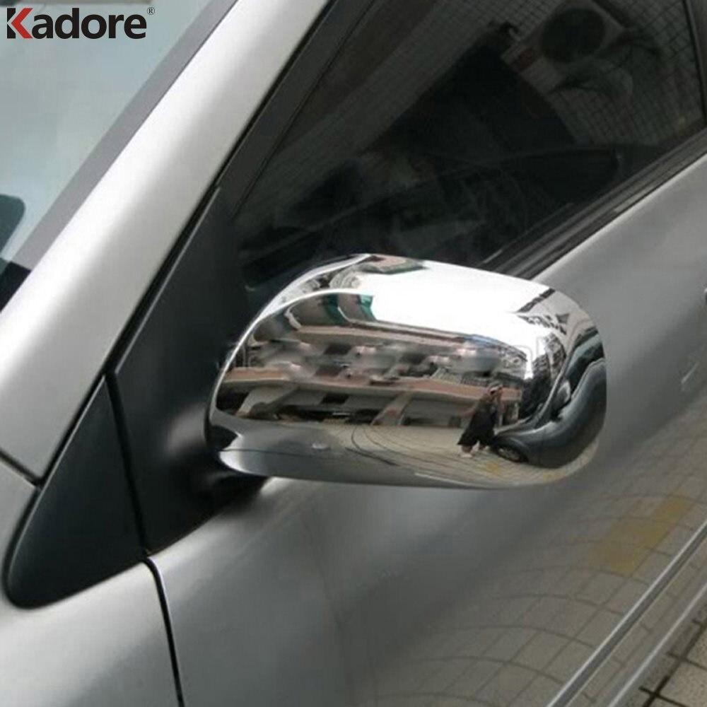 Für Toyota Yaris 5dr XP90 2006 2007 2008 2009 2010 2011 Verchromte Seite Tür Rückspiegel Abdeckung Trimmt Auto Zubehör