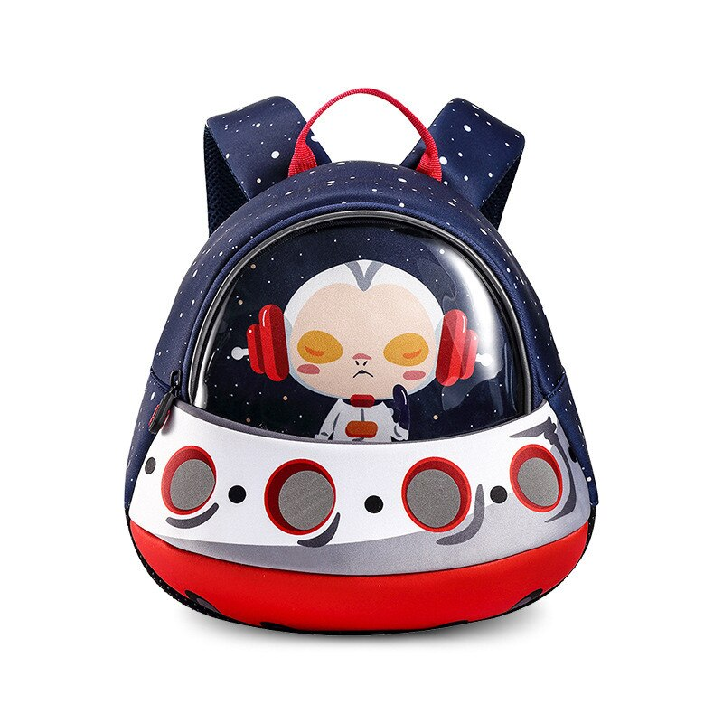 Toddler Kids Backpack 3D Rocket Space Cartoon Pre School Bags Children School Backpacks Kindergarten Kids UFO Bags Mochila