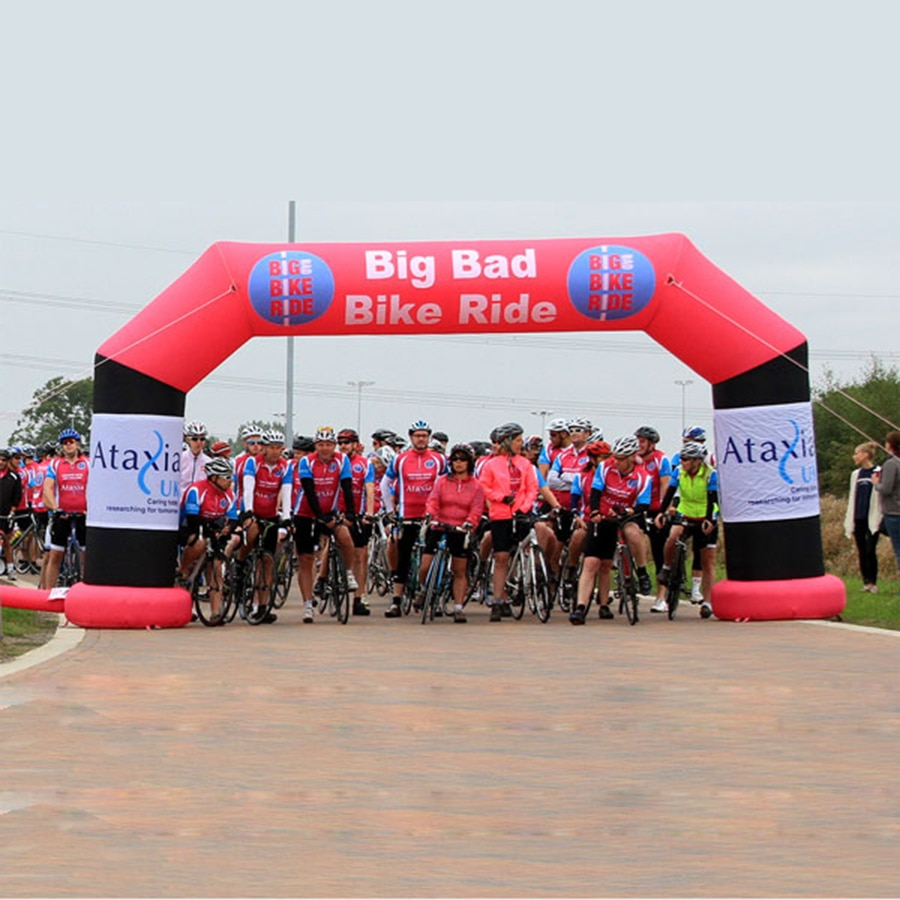 Arc gonflable librement imperméable debout extérieur, arceau de ligne darrivée de début pour des activités de tour de vélo
