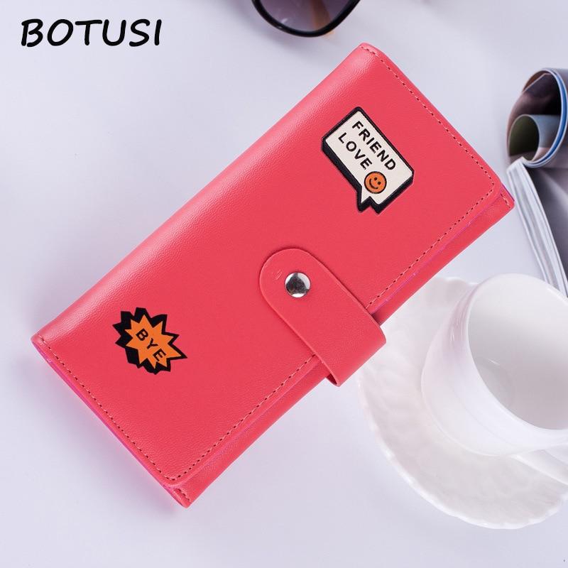 BOTUSI Women Wallets Fashion Lady Wristlet Handbags Long Money Bag Zipper Coin Purse Cards ID Holder Clutch Woman Wallet