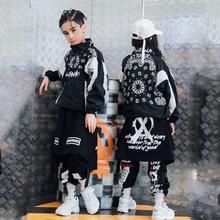 Costumes de danse Hip Hop Costumes de Jazz garçons vêtements de danse de rue filles veste pantalons enfants spectacle de danse sur scène tenue vêtements DQS1476