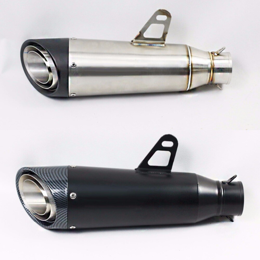 60mm nuevo silenciador de escape para motocicleta negro/titanio modificado de Scooter de escape para Yamaha R1R3 CB600 Z900 SC030