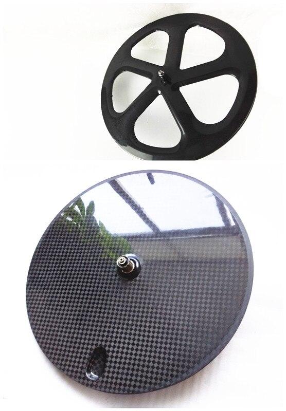 Envío Gratis, rueda de disco trasero de 5 radios powerway R13 ceramics 3K 12K UD mate remachador tubular road/piñón fijo de carbono
