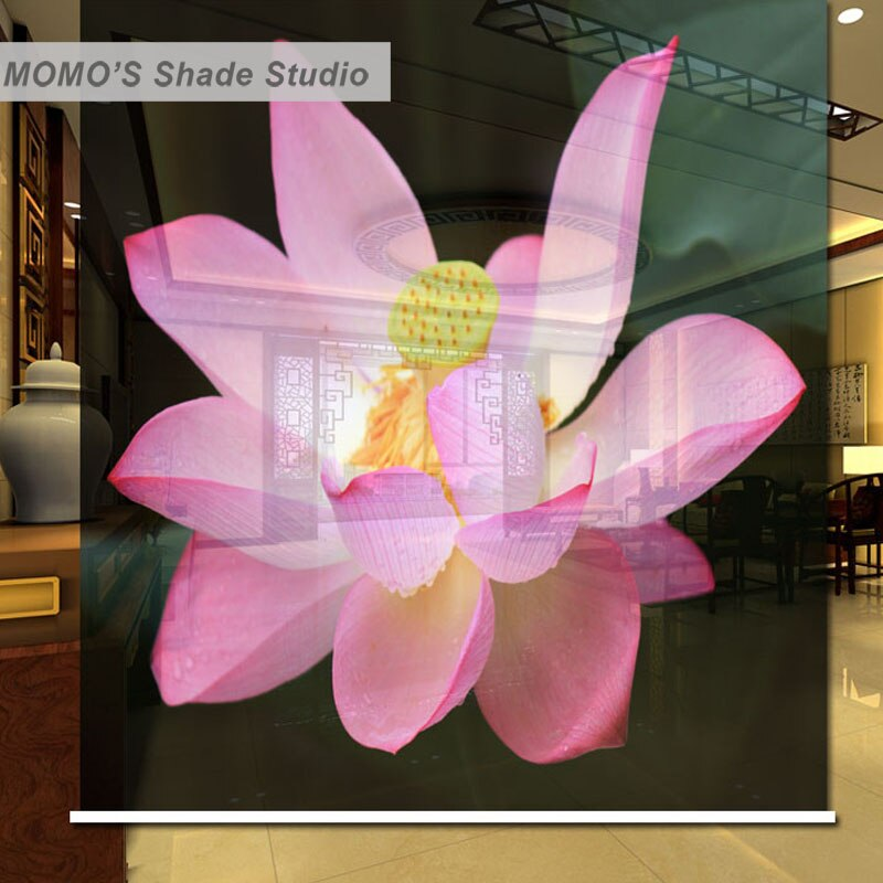 Cortina enrollable de Momo persianas opacas Lotus Cortina de rodillo de ventana persianas tela con aislamiento térmico tamaño personalizado Alice 427