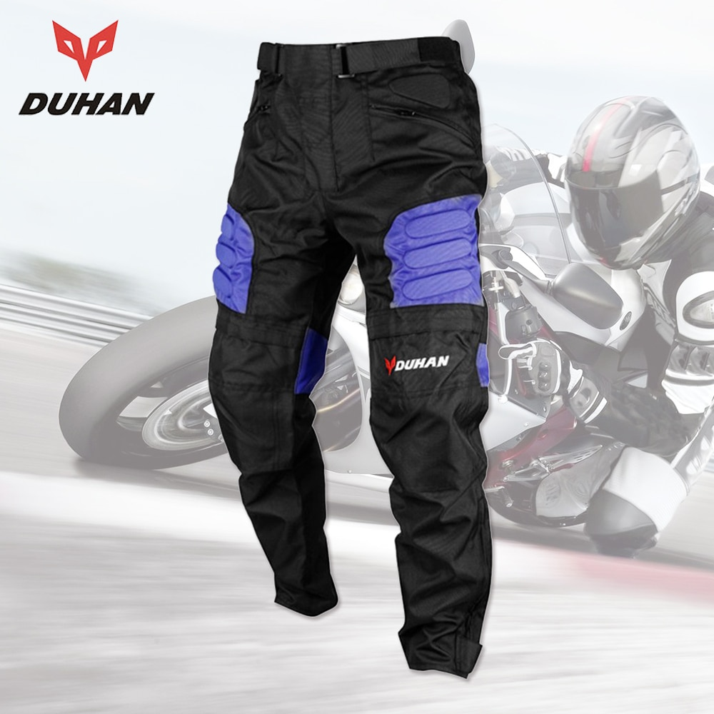 DUHAN 2017 pantalones de Moto para hombre Oxford paño Moto pantalones de carreras Motocross pantalones todoterreno deportes protector de rodilla