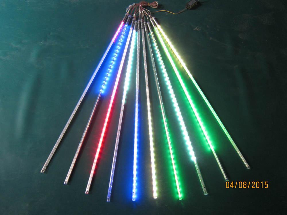 5 set/lote LED SMD2835 72leds LED de doble cara lluvia de meteoros tubo de luz Led 12*800mm10 piezas/Set
