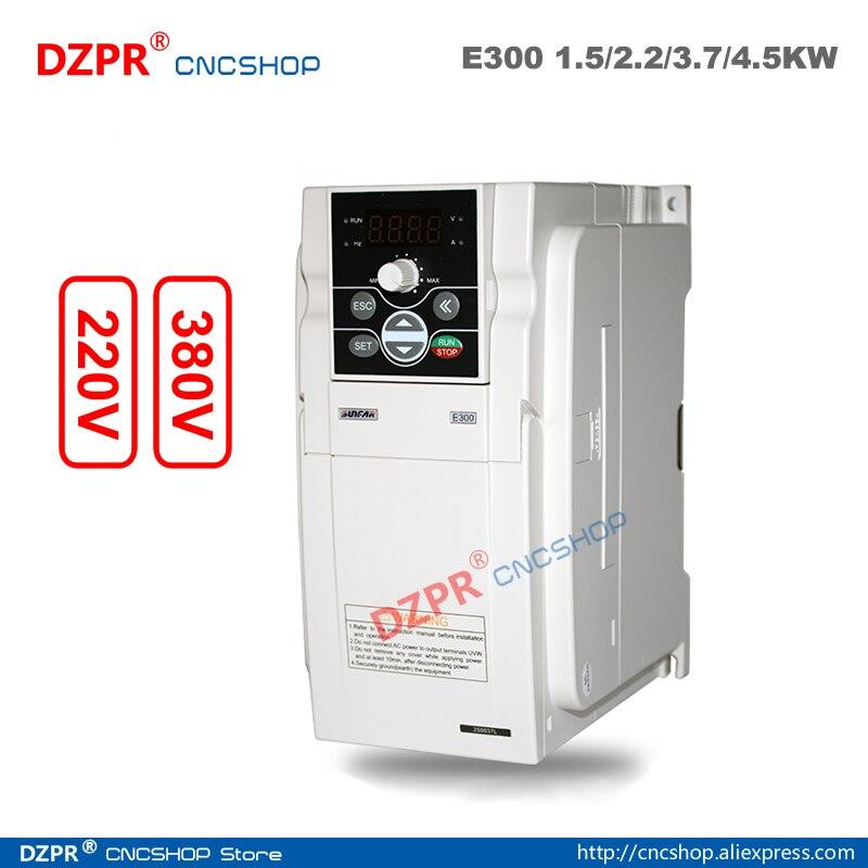 220V 1.5KW E300-2S0015L 2.2KW E300-2S0022L 3.7KW E300-2S0037L 4.5KW SUNFAR E300 inversor de la serie para cnc pieza de la máquina