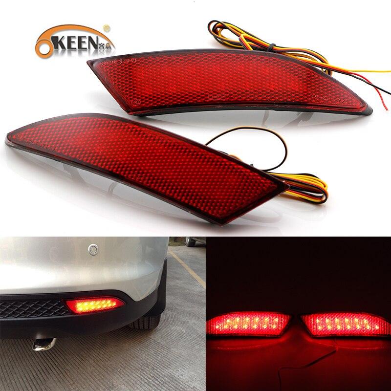 Reflector de parachoques trasero de coche marca OKEEN para Ford Focus 2012 12 V luz trasera de parada y freno luz de advertencia freno/giro li