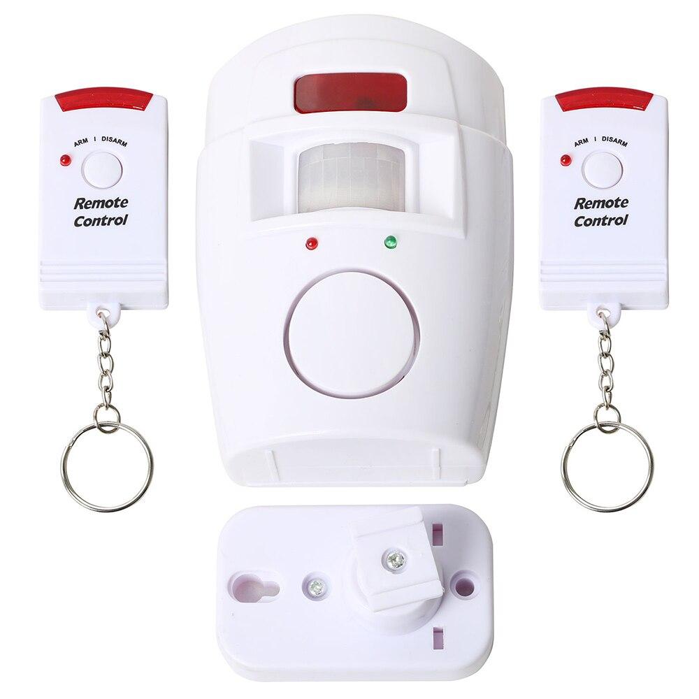 Домашняя безопасность PIR датчик движения сигнализация с 1 регулируемым настенным монтажным кронштейном и 2 пультами дистанционного управления для дома сарая гаража караван