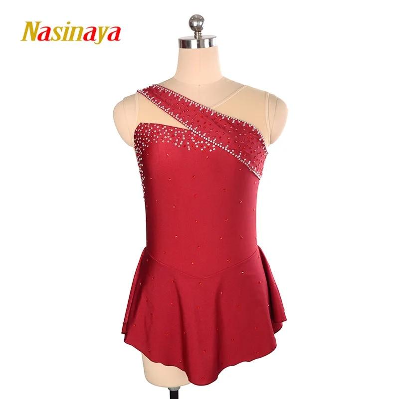 Nasinaya איור החלקה על שמלה מותאם אישית תחרות החלקה על קרח חצאית לילדה נשים ילדים Patinaje התעמלות ביצועים 138