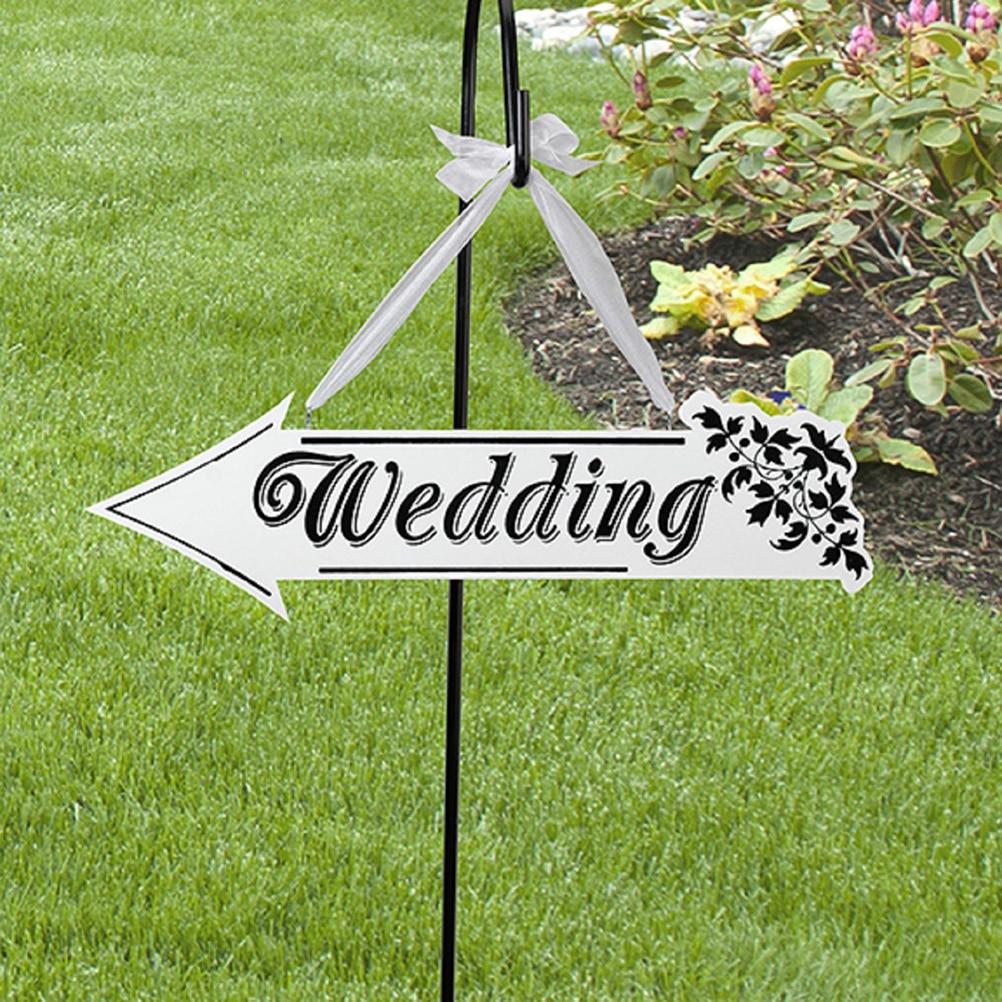 2016 Flecha en forma de colgante decoración boda signo blanco madera boda señal dirección flecha boda ceremonia recepción Decoración