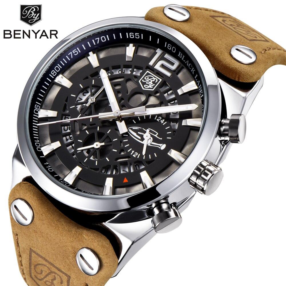 BENYAR, relojes para hombre, cronógrafo de lujo, relojes deportivos para hombre, marca de moda, reloj militar resistente al agua, reloj Masculino, BY-5112M