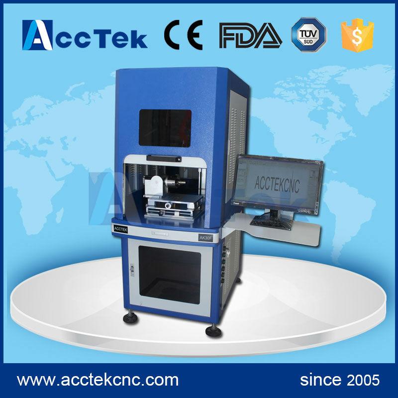 Máquina de grabado láser de fibra de metal 3d estándar CE FDA de enfoque automático electrónico a la venta