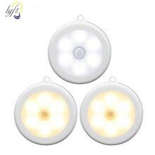 6 LED Sans Fil PIR Infrarouge Human Motion Sensor Lumière de Nuit Détection Lumières Mur Lampe Placard Cabinet Escaliers Automatique Lampes