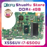 KEFU A556U For ASUS X556UV X556UQ X556UR X556UB I7 4GB FL5900U FL5800U Laptop Motherboard Tested 100% work original Mainboard