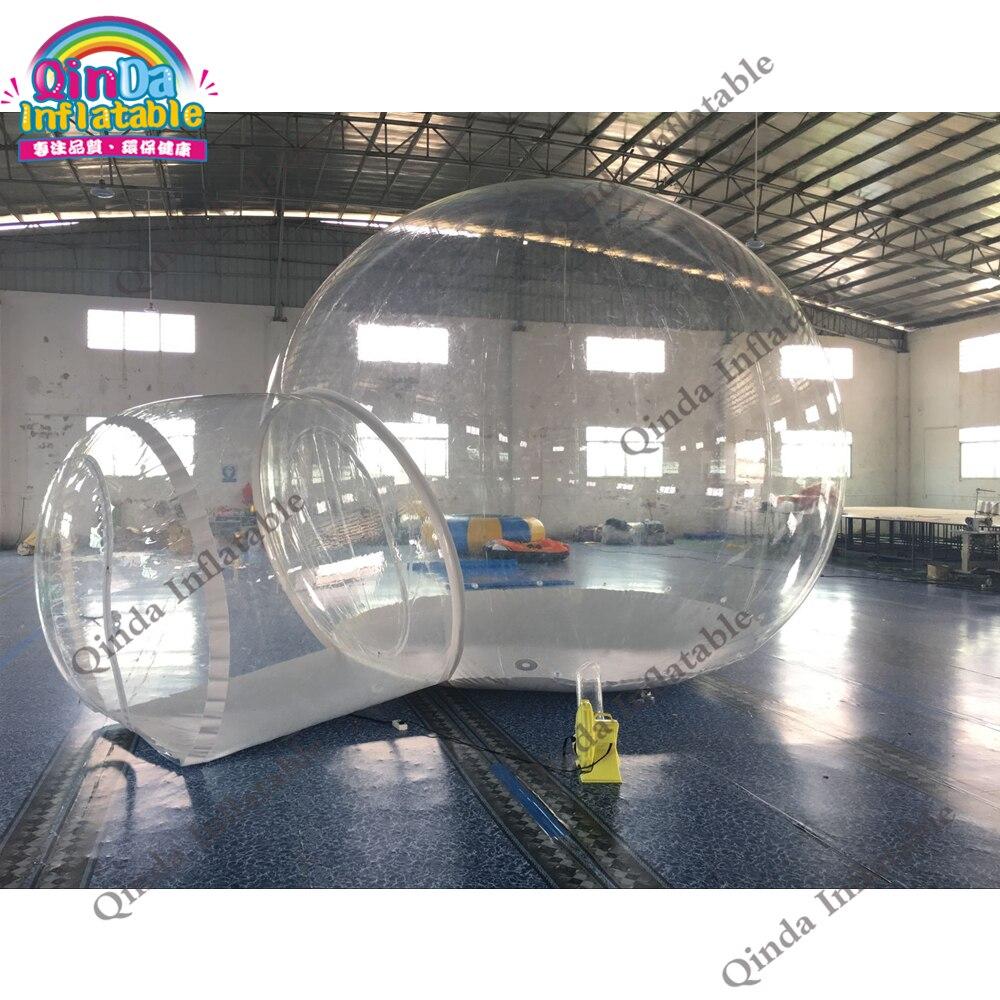 Tienda inflable de burbuja transparente igloo para exteriores, casa inflable de burbujas de 4m para eventos de fiesta