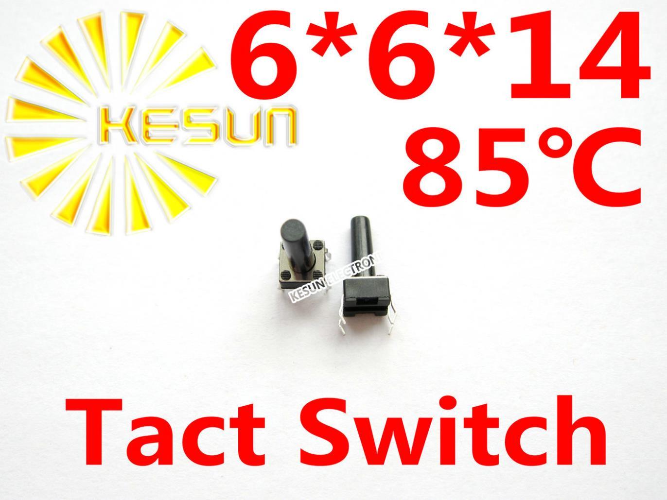 1000 PCS DIP 6X6X14 Tátil Tact Botão Micro Interruptor Momentâneo