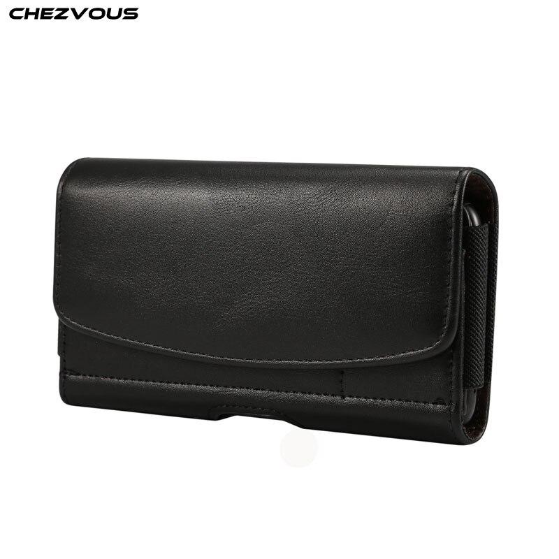 Neue 6,3 ~ 6,9 zoll PU Ledertasche Gürtel Clip Taille Tasche für Xiaomi MAX Karte Halter Fanny Beutel für huawei Mate 20X Ehre 8X max