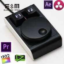 LED de raccourci de navette de temps de cadran Programmable clavier USB Macro clé chaude FCPX Canopus Edius DaVinci Adobe première Ae Pr