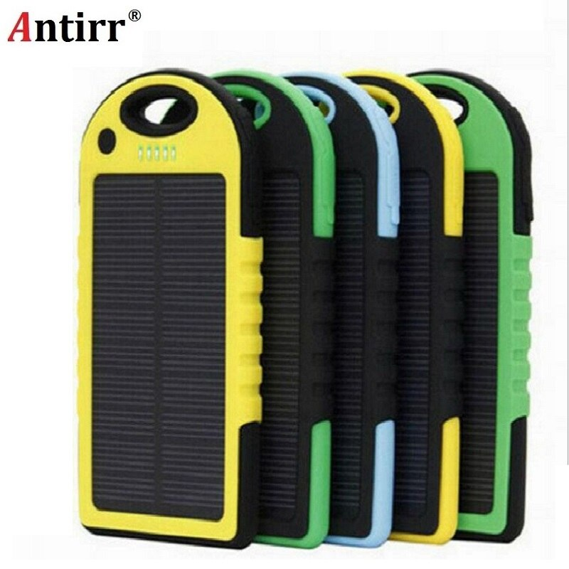 5000mAh Solar Emergency Power Bank with LED Torch Portable Phone Battery Powerbank Solar Waterproof External Battery for Mobile