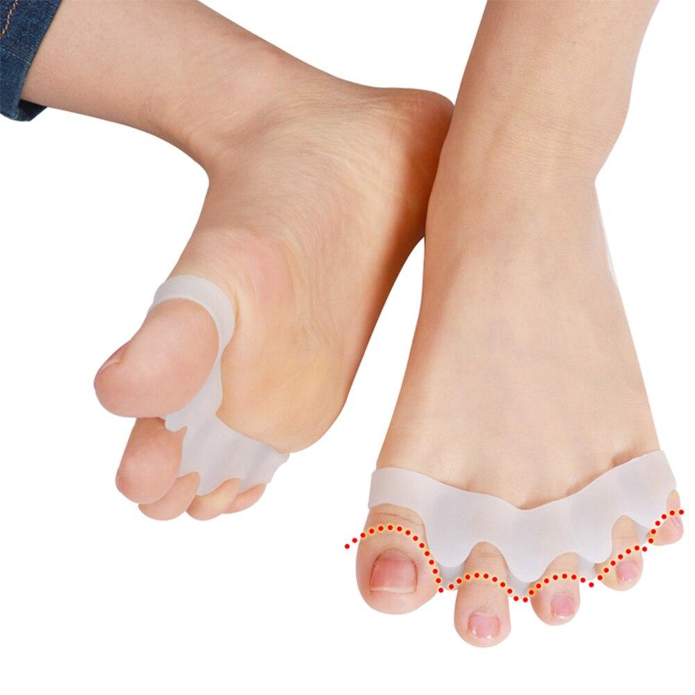Separadores de pie de silicona Orthotics, estiradores, alineadores, superpuestas, para manicura, separadores de pies, 2 uds.