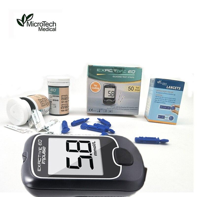Accesorios para Monitor de glucosa en sangre de impulso EQ 25 tiras de prueba médica de MICROTECH