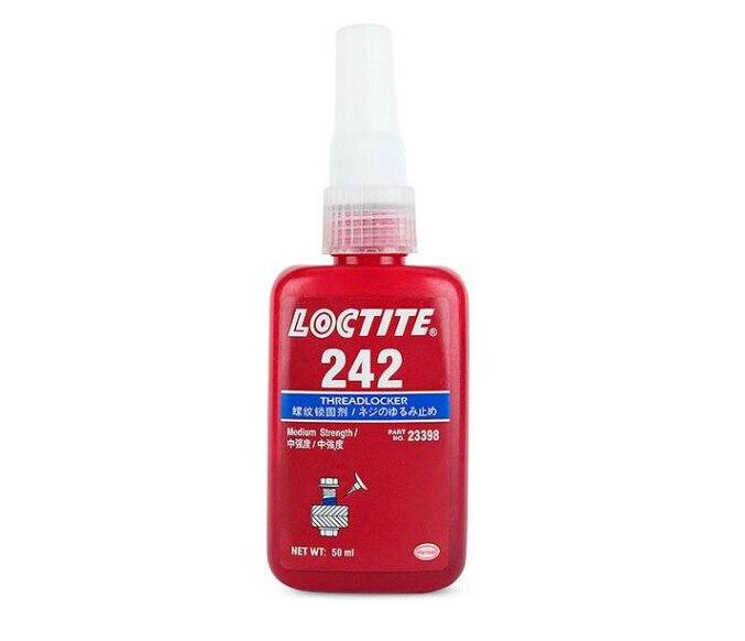 Loctite 242 de fuerza media tornillo pegamento de sellado anti-suelto pegamento anaeróbico de roscas