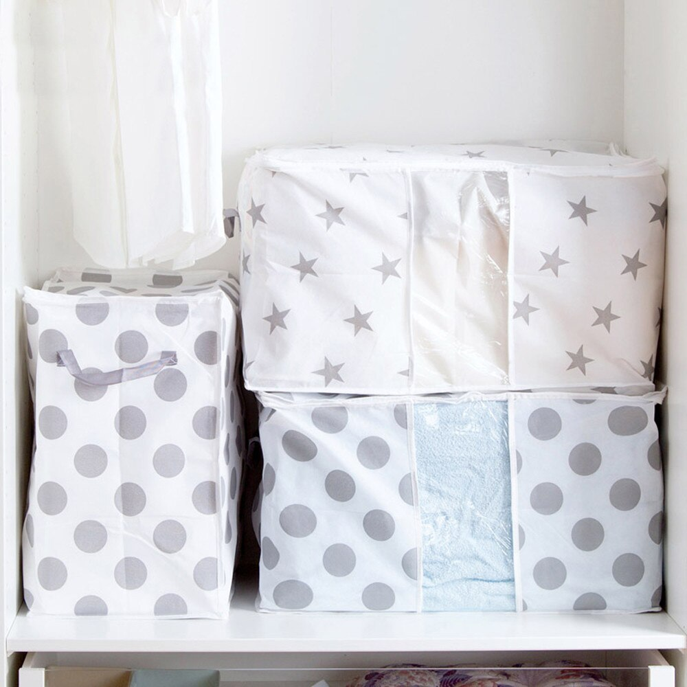 Bolsa de almacenamiento plegable ropa manta colcha armario suéter organizador caja bolsas cajones almacenamiento organizador