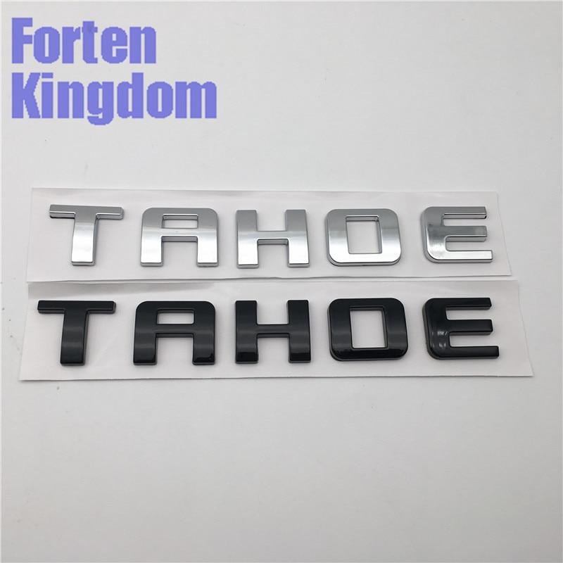 Forten Kingdom Word TAHOE ABS Chrome Or Glossy Black Car Custom Nameplates 3D Letter Writing Badge Emblem Sticker