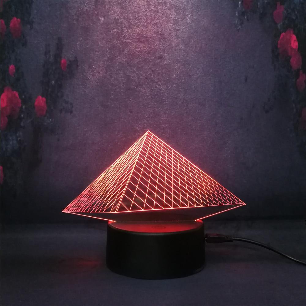 Famous Mysterious Egyptian Pyramid Anti-creative 3D RGB Lava Led Bulb Bedroom Show Night Light Acrylic Desk Lamp Child Game Gift