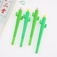 2 PCS Cute Creative Cactus Gel Pens Stationery Office School Supplies Gift Gel Pen 0.38mm Black Ink