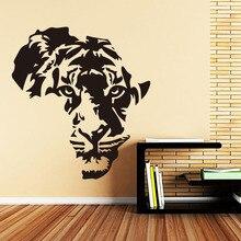 ملصقات جدارية للديكور المنزلي بنمر أفريقي من الكلوريد متعدد الفينيل مضادة للماء لديكور المنزل شارات حيوانات لغرفة المعيشة وغرفة النوم