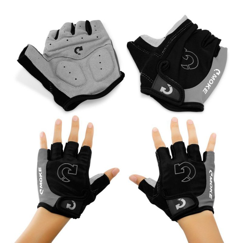 Outdoor Radfahren Halbe Finger Handschuh 3 Farben Reiten Sport Anti Slip Gel Pad Motorrad Rennrad Handschuhe Fahrrad Handschuhe S-XL