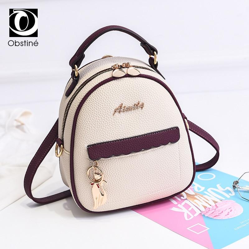 mini backpack for women 2019 pu leather small backapcks for girls fashion designer back pack purse ladies white bagpack bags