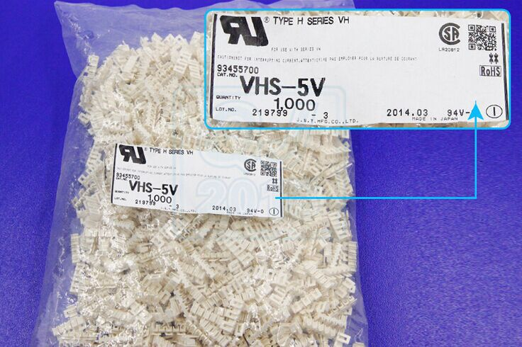 VHS-5V موصلات محطات إيواء 100% ٪ أجزاء جديدة ومبتكرة