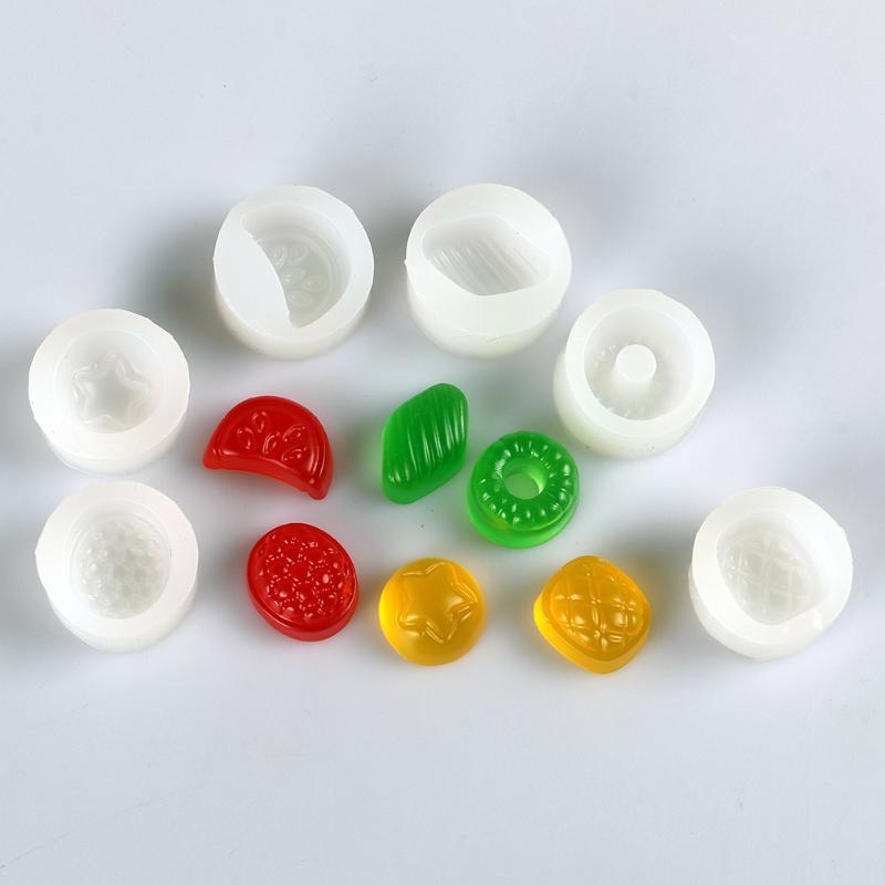 6pcs Fruit Silicone Mold Fondant Craft Pendant Mould Jewelry Miniature Food Parts For Pendant DIY Accessories