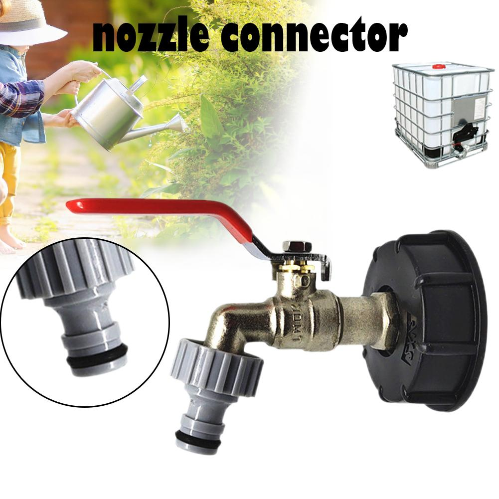 1000L IBC 1/2 Water Tank Hose Adapter Fittings With Switch Connector Garden Yard Irrigation Watering Tube Connect Tool #20