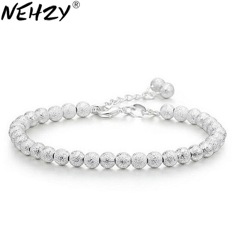 AliExpress - Silver bead bracelet matte Ms. wild fashion jewelry, high quality jewelry cute 17.5CM