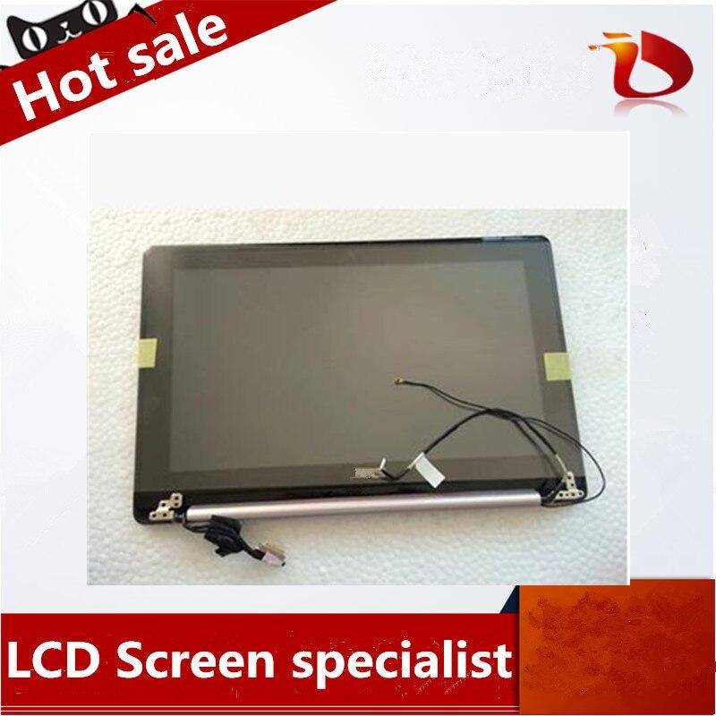 Envío Gratis para ASUS X202E Asamblea X202 S200 S200E LCD con la pantalla táctil de la pantalla del ordenador portátil cubierta de la Asamblea de pantalla de color negro
