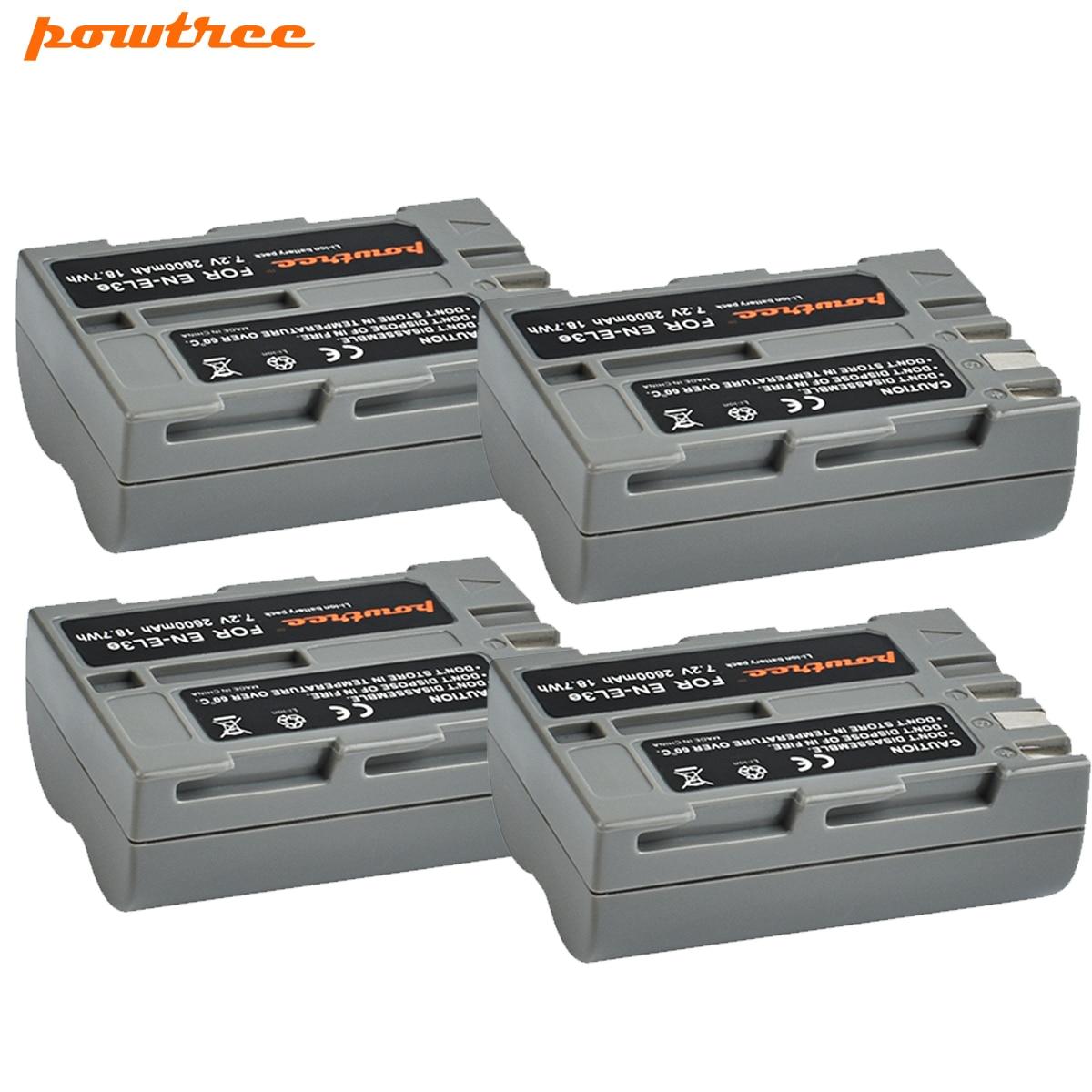 4X 7,4 V 1800mAh EN-EL3e es EL3e Cámara recargable de la batería para NIKON D30 D50 D70 D70S D90 D80 D100 D200 D300 D300S D700 L30