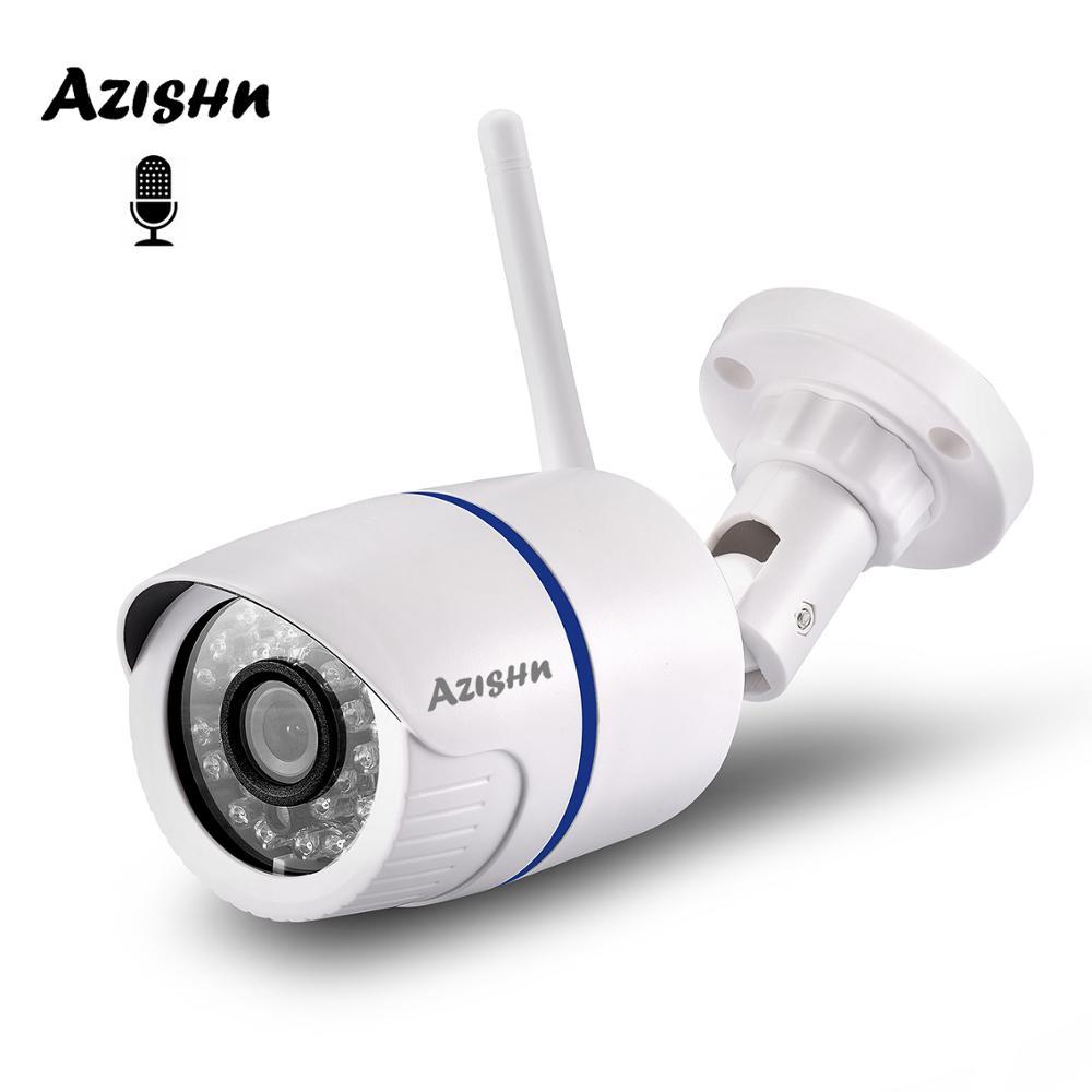 Azishn 1080 p 2.0mp wifi ip câmera de áudio 24ir vigilância waterptoof onvif cctv câmera sem fio com slot para cartão sd xm530ai icsee