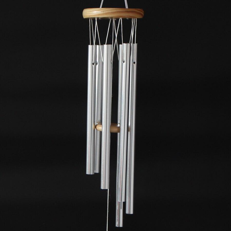 Campana de campana de viento de 6 tubos de resonancia profunda de gracia increíble antigua campanas de viento puerta colgante de pared para decoración del hogar