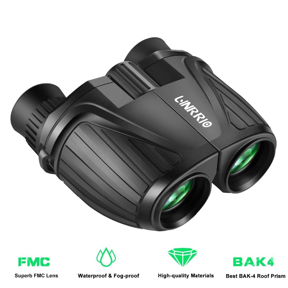Binoculares compactos 10X25 Mini binoculares IP55 binoculares impermeables de fauna avistaje de aves para caza al aire libre camping senderismo