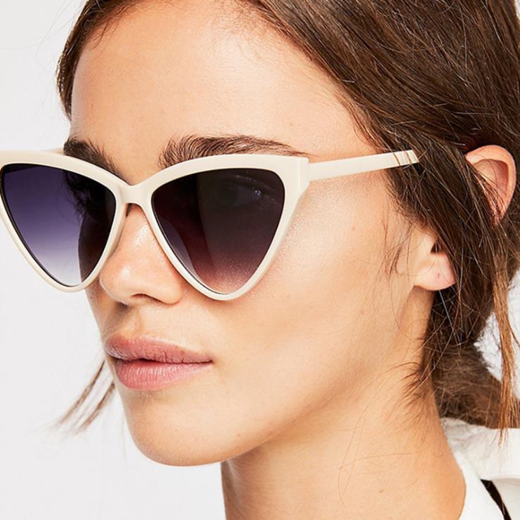 2019 moda Óculos De Sol Mulheres Olho de Gato Do Vintage Óculos Retro das Mulheres Óculos de Proteção UV Óculos de Sol Das Senhoras Óculos Cateye