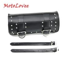 MotoLovee Motorcycle Black Front Fork Tool Bag Luggage Saddle Bag For Chopper Sportster Brand New