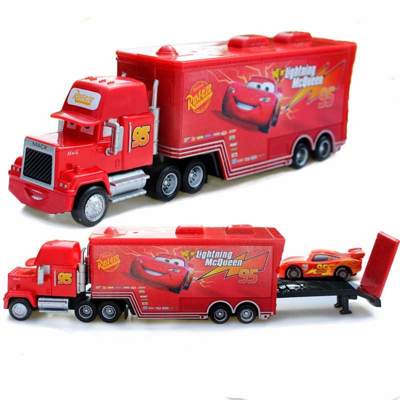 Disney Pixar Тачки 2 игрушки Молния Маккуин мак грузовик король 1:55 литые из металлического сплава модели Фигурки игрушки подарки для детей