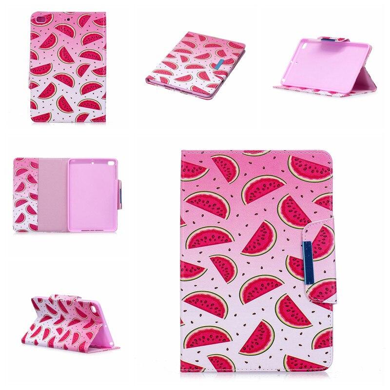 Купить с кэшбэком Wekays Case for Apple IPad Mini Cute Cartoon Flamingo Unicorn PU Flip Leather Cover Case For iPad Mini 5 4 3 2 1 7.9 inch Capa