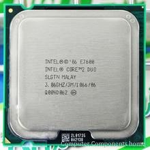 Processeur dunité centrale dorigine intel Core 2 Duo E7600 LGA 775 (3.0 Ghz/3 M/1066 GHz) Socket 775